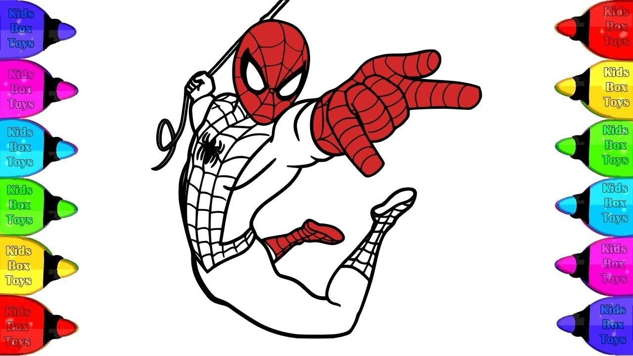 Spiderman Coloring Book Spiderman Colors Nursery Rhymes For Kids Sp Coloring Books Character Fictional Characters