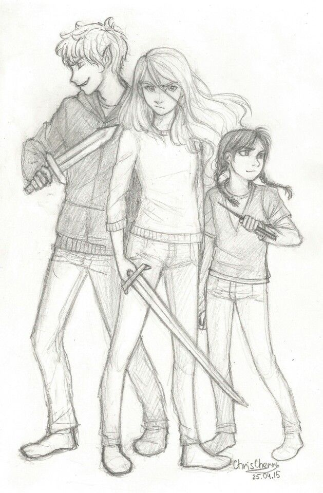Puck, Sabrina, and Daphne from The Sister's Grimm by