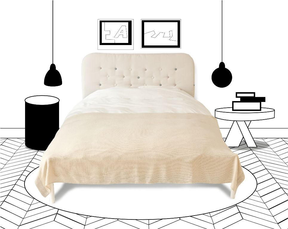 Tufty Headboard Cover For Redalen Duken Ikea Bed Frame Suodovo