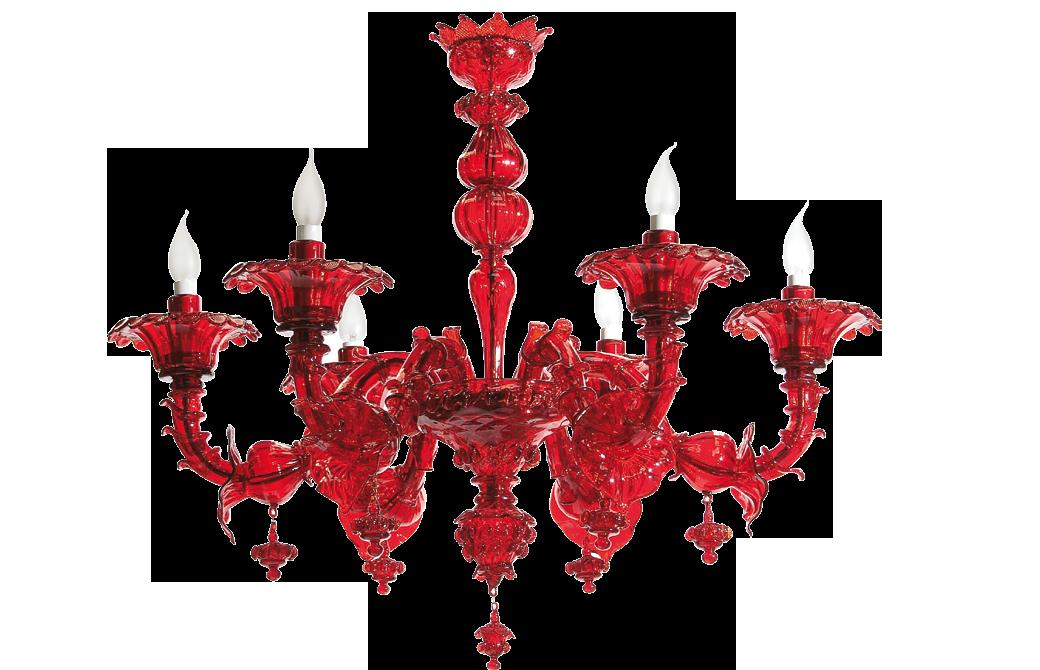 Lampadario vetro murano lampadario in vetro rosso e oro