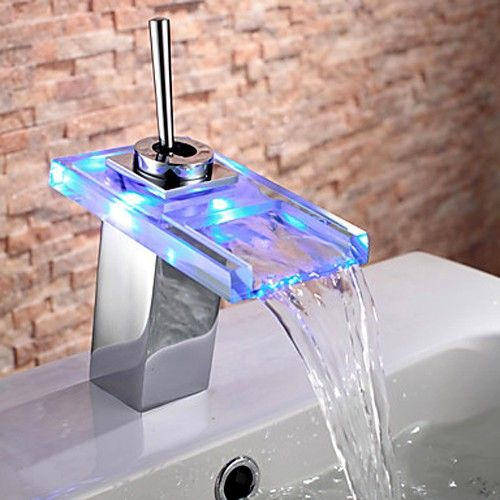 Fun Led Lighted Bathroom Sink Waterfall Faucet Bathroom Sink Taps Bathroom Sink Faucets Waterfall Bathroom Sink Faucets