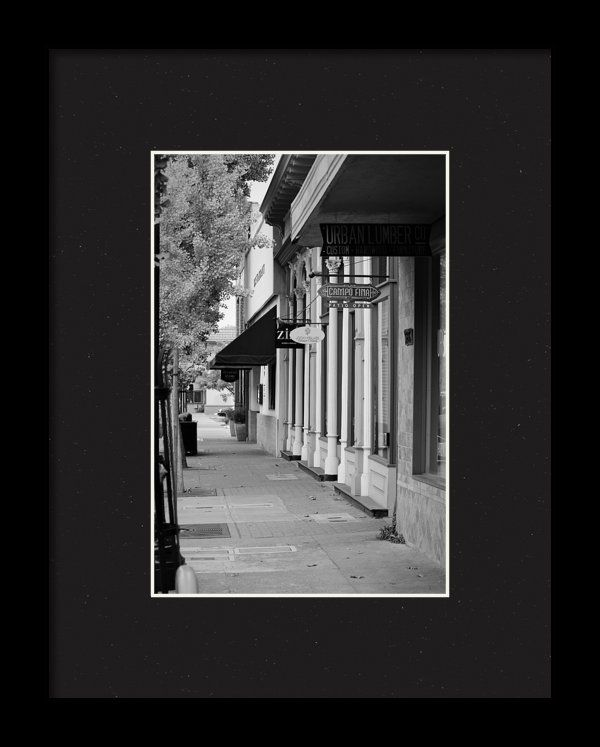 Healdsburg california black and white photograph framed print by marnie patchett