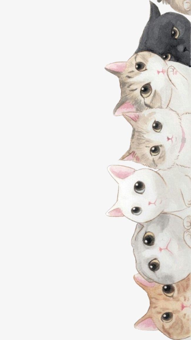 Peeking Cat In 2020 Cat Art Cute Wallpapers Cat Wallpaper