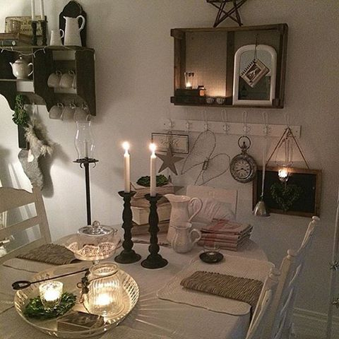 @jadrankaedstrom #kitchen #kök #ideas #ideer #inredningsdesign #inspiration #inredning #decorations #lyktor #candlelights #tealights #beautiful #vitahem #vinter #vackrating #vakrehjem #vackrahem