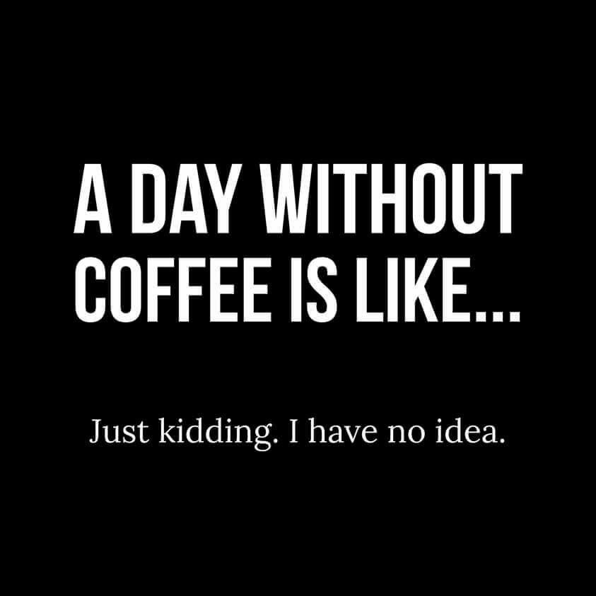 A Day Without Coffee Is Like Just Kidding I Have No Idea Coffee Humor Coffee Obsession Coffee Quotes