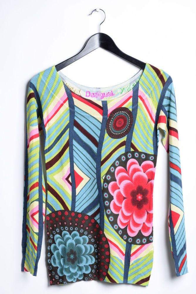 New Desigual Blouse Women s Tops T-shirt Shirts Size: S #desigual #blouse #shirts #fashion #style