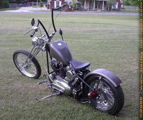 Image of Harley Sportster Chopper with 1973 Harley Ironhead