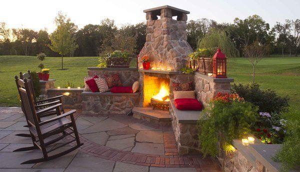 outdoor fireplace garten pinterest garten garten ideen und haus. Black Bedroom Furniture Sets. Home Design Ideas