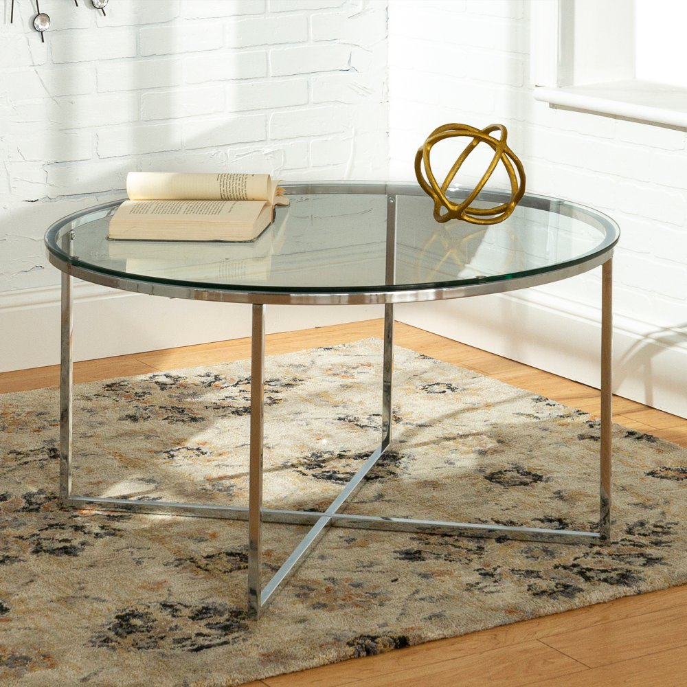 Mid Century Modern Coffee Table Glass Chrome Rc Willey Furniture Store Coffee Table Modern Glass Coffee Table Round Coffee Table Modern [ 1000 x 1000 Pixel ]