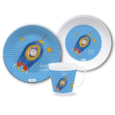 Dinnerware Set - Personalized Dinnerware Set Astronaut  sc 1 st  Pinterest & Dinnerware Set - Personalized Dinnerware Set Astronaut | baby gifts ...