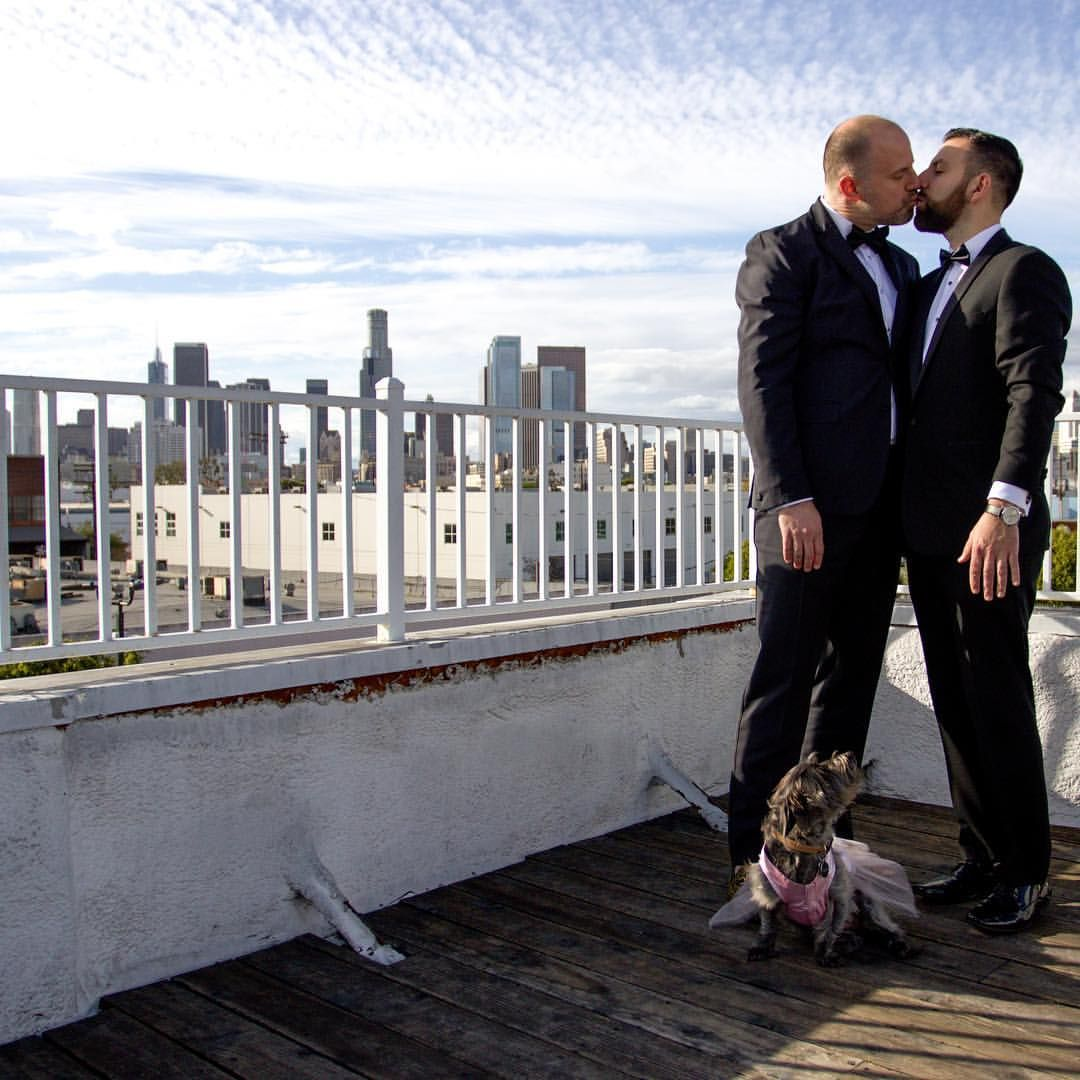 Unique Space Wedding Gay Wedding Dog flower
