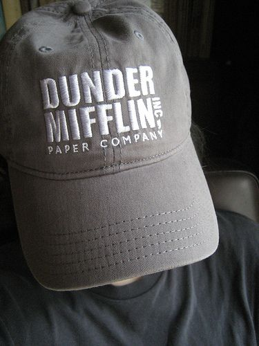 fb29cb9a8d8 DUNDER MIFFLIN baseball cap by No Biggy