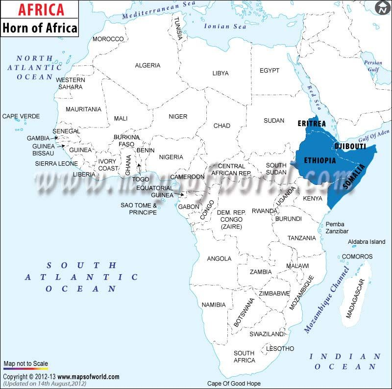 Map showing the location of horn of africa countries like eritrea map showing the location of horn of africa countries like eritrea djibouti somalia gumiabroncs Images