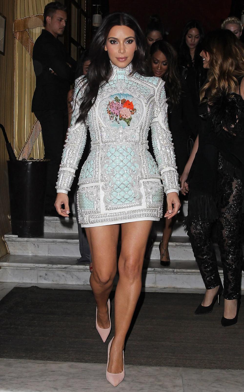 Kim Kardashian S Little White Dress For A Very Important Pre Wedding Girls Night Out Kim Kardashian Style Outfits Fashion White Dress Top [ 1602 x 1000 Pixel ]