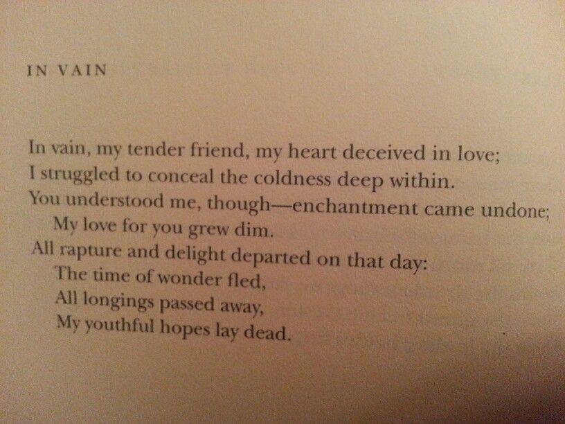 I Loved You - Poem by Alexander Sergeyevich Pushkin