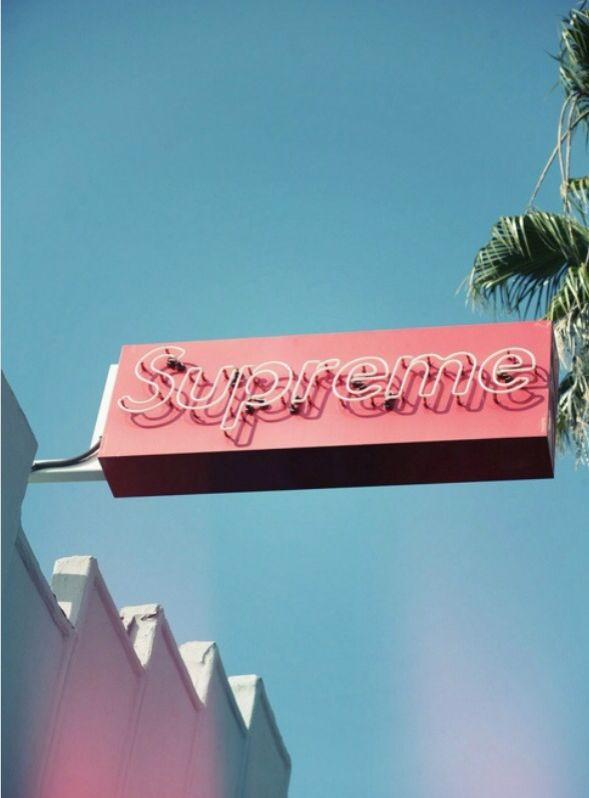Supreme | Neon signs, Neon, Aesthetic wallpapers