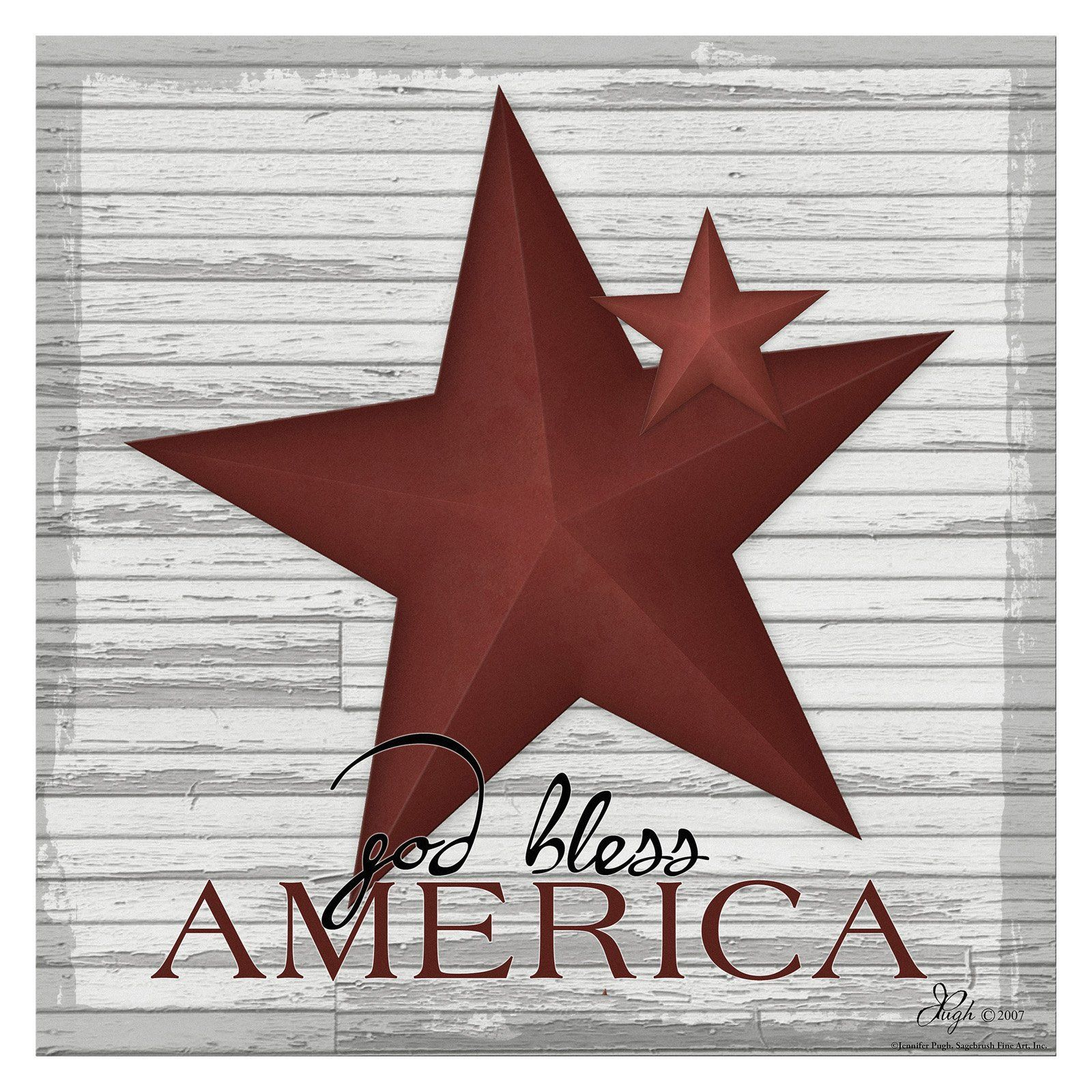 Somerset Fine Art God Bless America Canvas Print - SB1602HN
