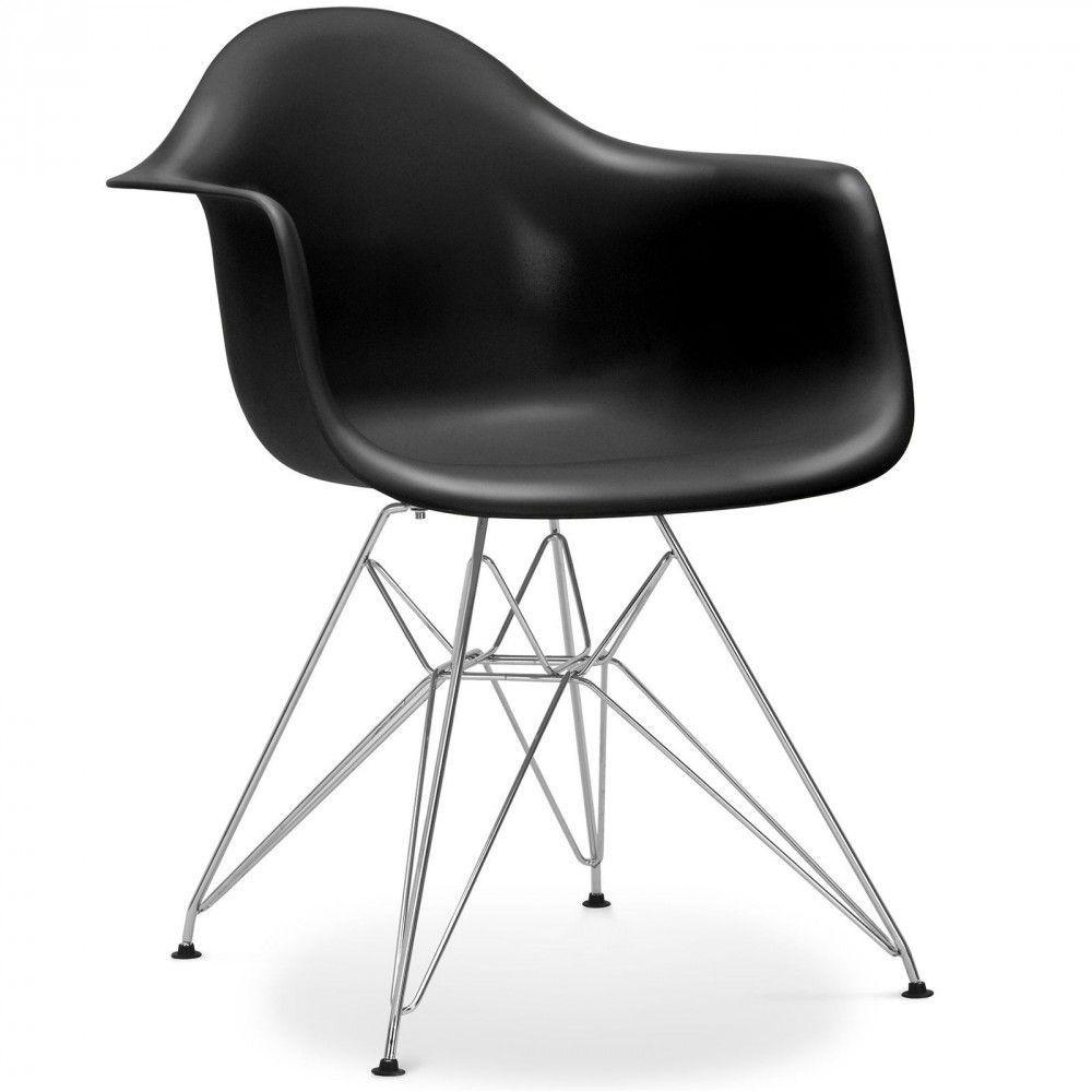 Chaise eames dar style noir inspiration g om trique Chaise inspiration eames