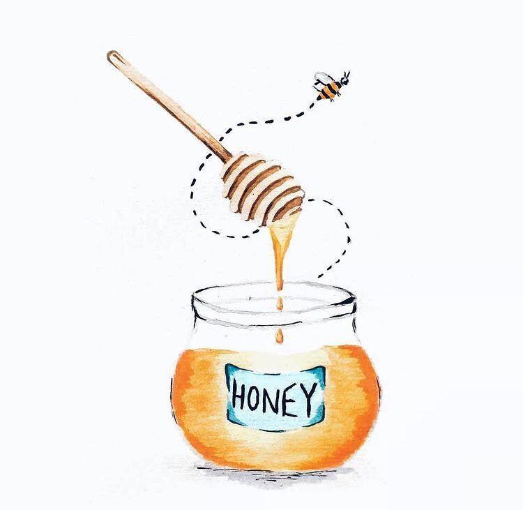 Natural Mask For Acne Prone Skin Honey Art Honey Illustration Bee Art