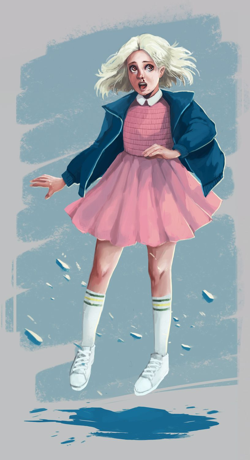 Pink dress from stranger things  Eleven  Stranger things by fcnjt  Stranger Things  Pinterest