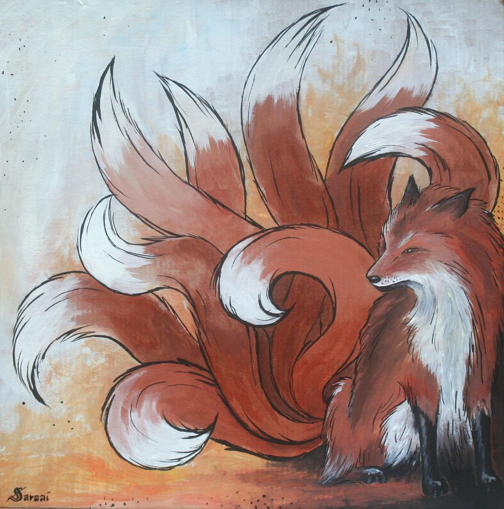 Nine Tailed Fox By Saraaisdeviantartcom On At Deviantart Vanish
