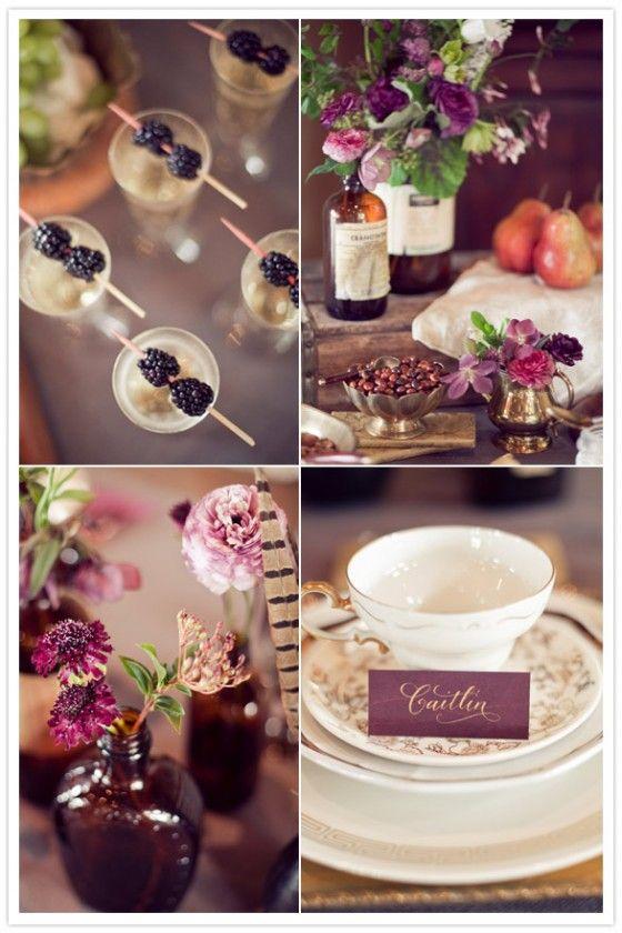 Gold und pflaume in der Tischdeko  HC dream wedding  Herbst hochzeit ideen Tischdeko hochzeit