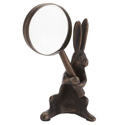 Pier 1 - Bunny with Magnifying Glass - $14.99 - desk accessory or in front of cook book (on stand) in kitchen