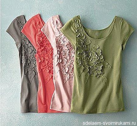 20 идей для украшения футболки или как украсить футболку своими руками