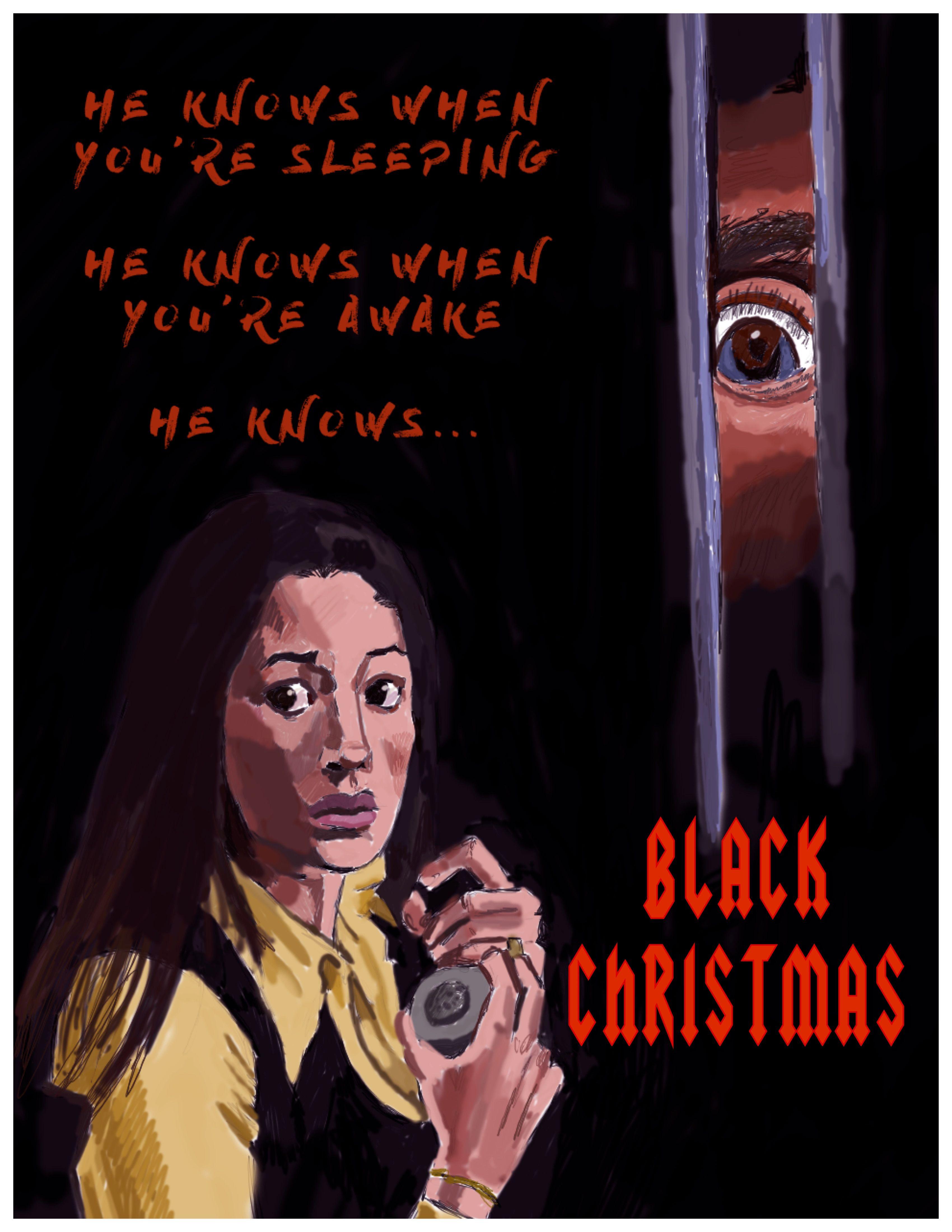 Black Christmas (1974) alternative poster Black