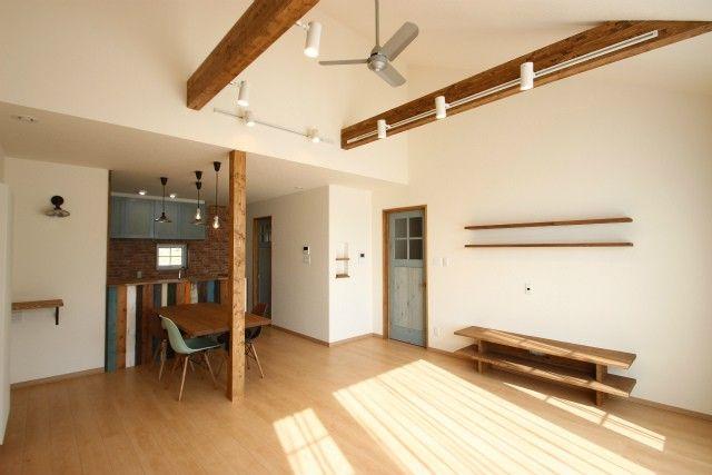 アメリカンヴィンテージ風に仕上げた平屋のお家 新築 住宅 家 住宅
