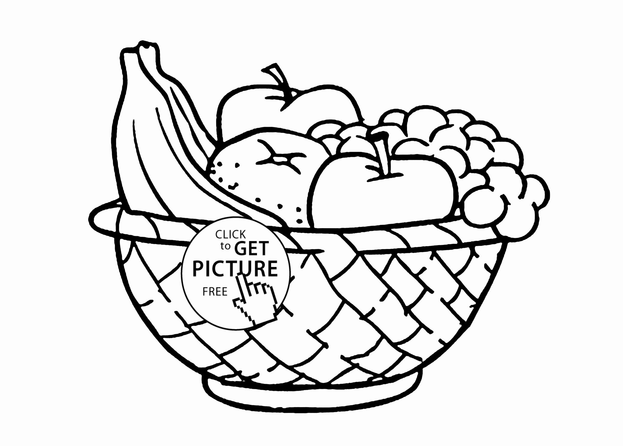 Coloring Fruits Cartoon Inspirational Of Fruit Picnic Coloring Pages Sabadaphnecottage Fruit Basket Drawing Fruits Drawing Fruit Coloring Pages