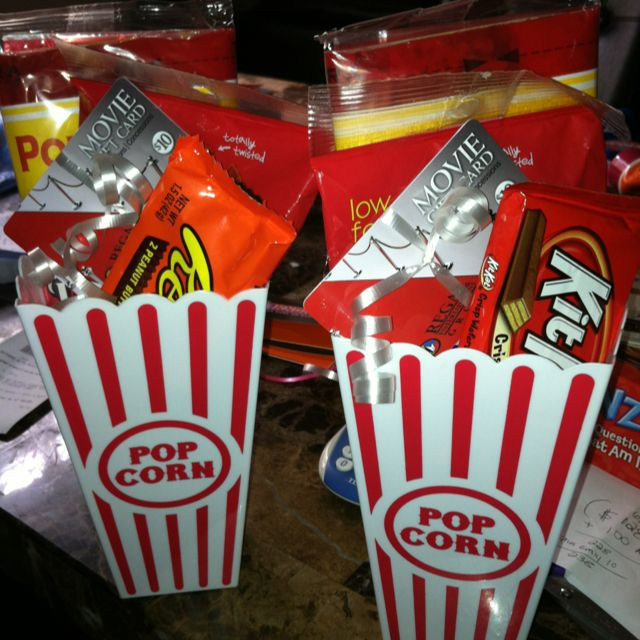 Movie Gift Card Presentation Basket 2 For A Dollar At