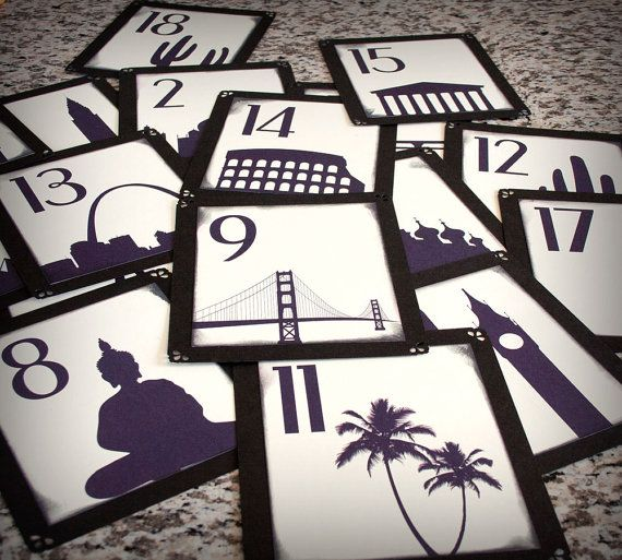 travel table numbers of the places we've been together
