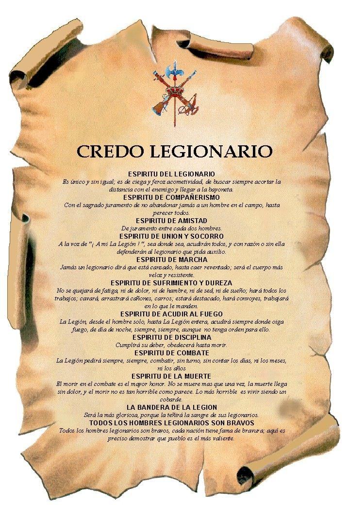 Credo Del Legionariobushido Way La Legion Española La