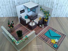 Geschenkbox Explosionsbox Uberraschungsbox Lounge Terrasse Garten Geldgeschenk Gutschein Pflanzen Gartenmobel Explosionsbox Geschenkbox Box