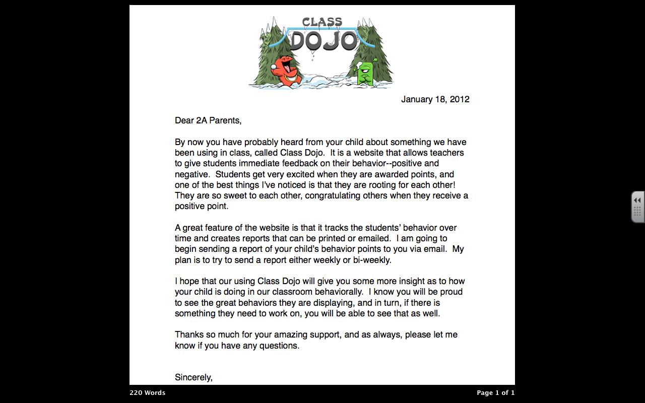 Teach On. Class Dojo Parent LetterRepin ByPinterest++