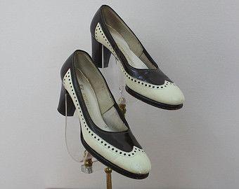 vintage 1930s heels / 30s black shoes / 30s от livinvintageshop