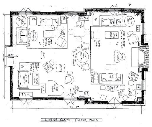 Image result for decorating space plans for great room with sitting ...