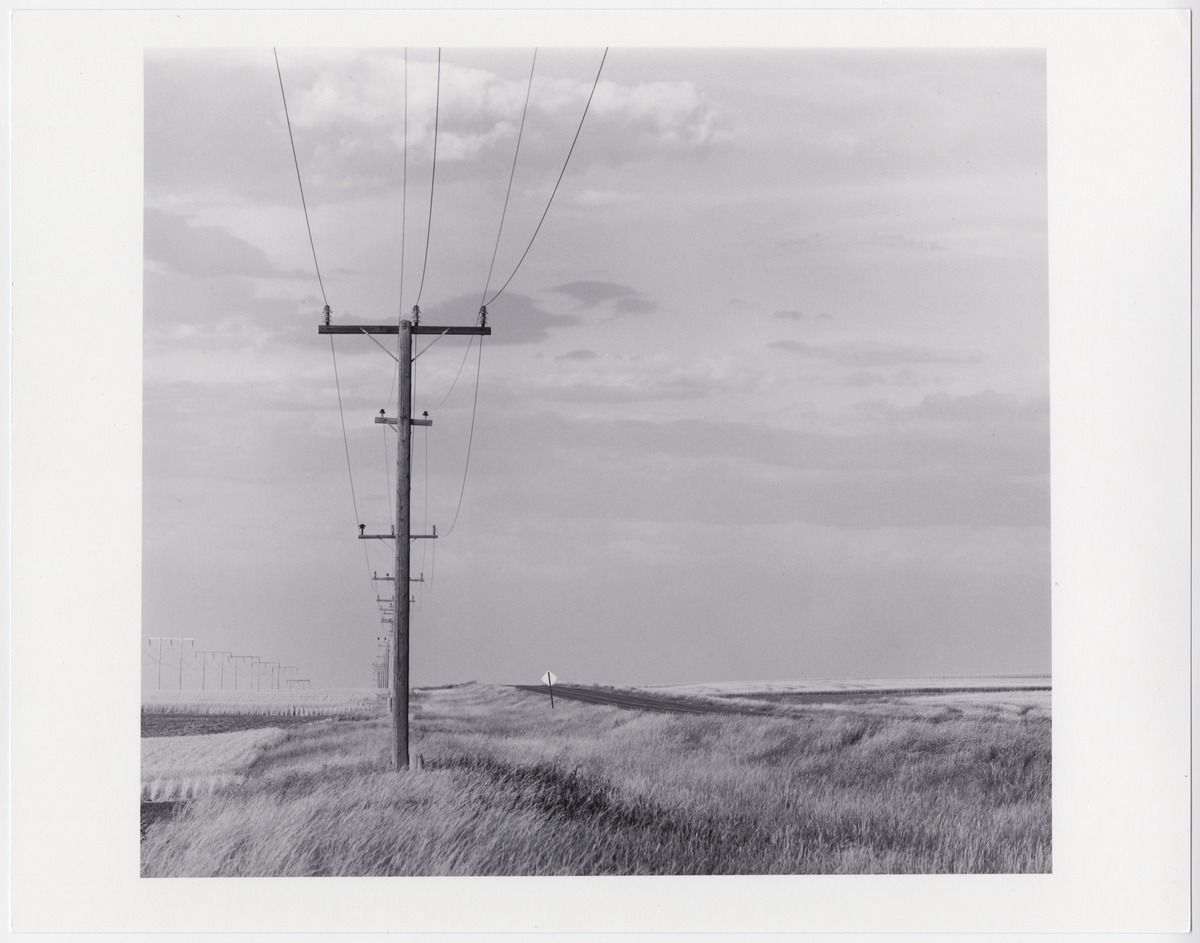 Route U.S. 2, c. 1968. David Plowden. Electric power lines.