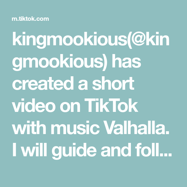 kingmookious(@kingmookious) has created a short video on TikTok with music Valhalla. I will guide and follow my brothers and sisters into the halls of Valhalla. #foryou #norsepagan #skål🍻 #norsetok #valhalla #pagan