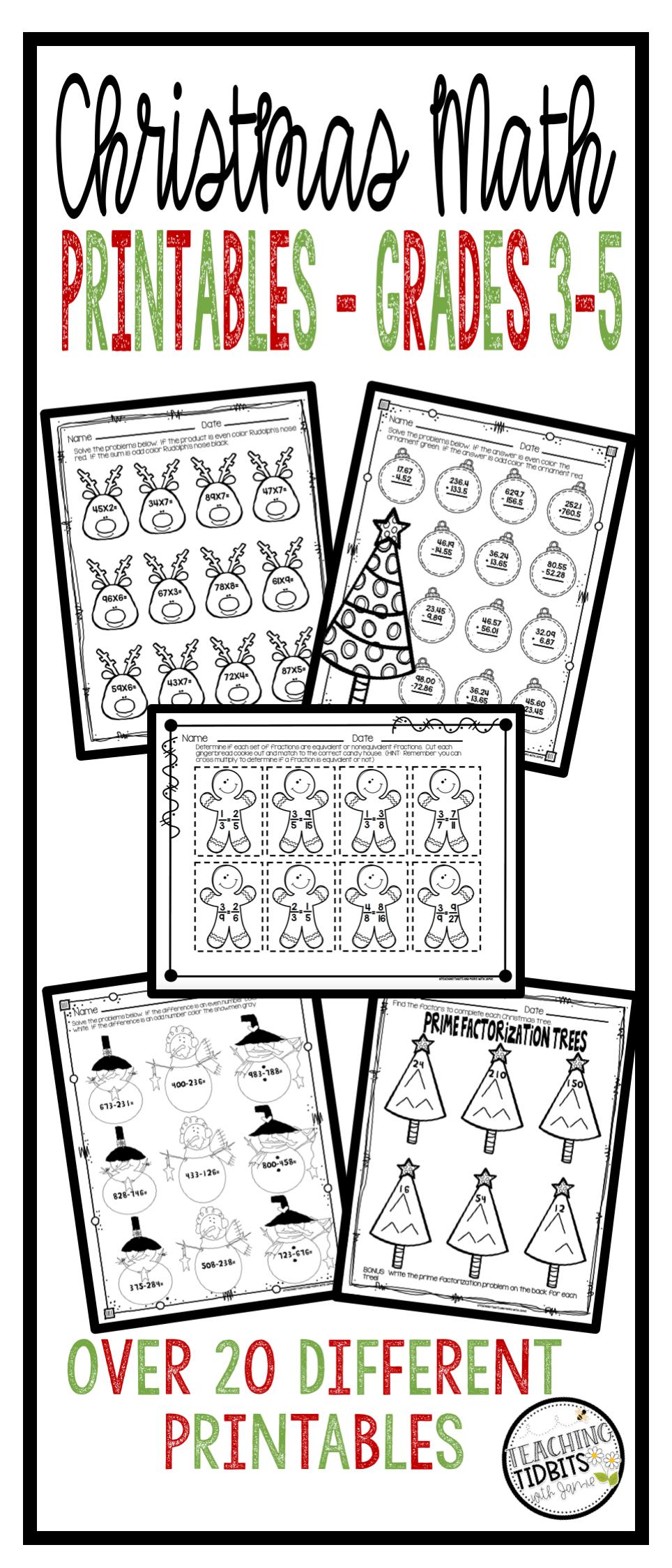 Christmas Math Christmas Math Worksheets Christmas Math Activities Christmas Math Activities Christmas Math Christmas Third Grade Math [ 2249 x 964 Pixel ]