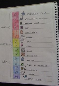 Interactive Notebook Acids And Bases Ph Scale Life Science
