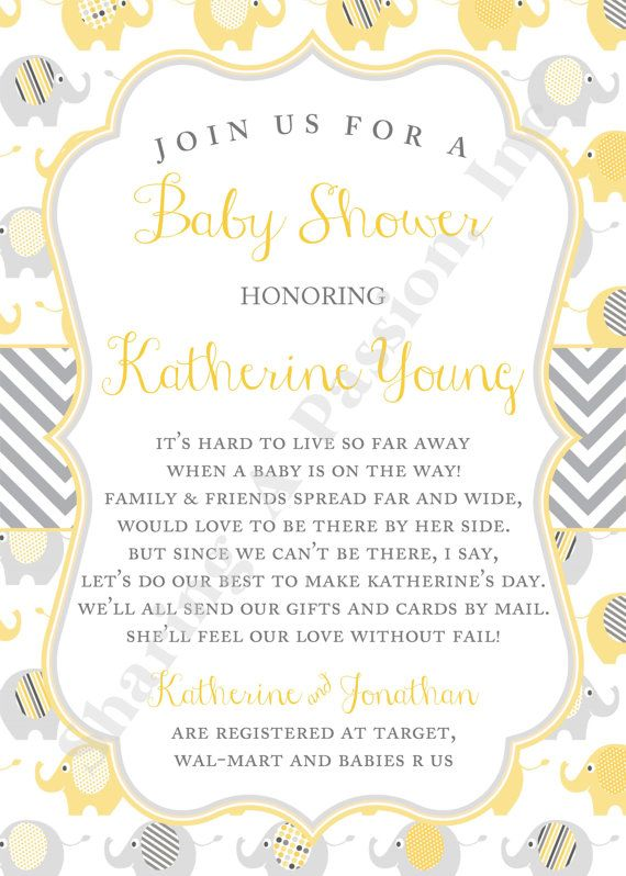 Long Distance Baby Shower Invitation Shower by ...