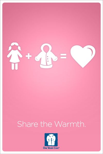 Work with One Warm Coat to hold your own coat drive to benefit your local community!