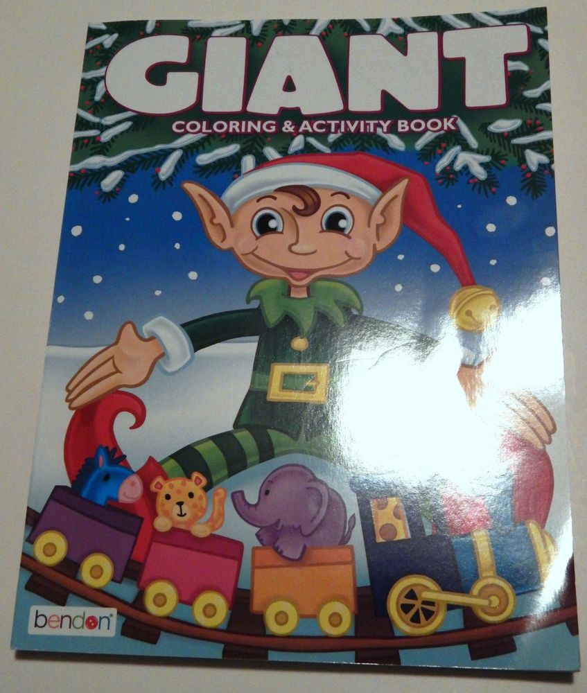 Elf's Holiday Adventure Giant Coloring & Activity Book