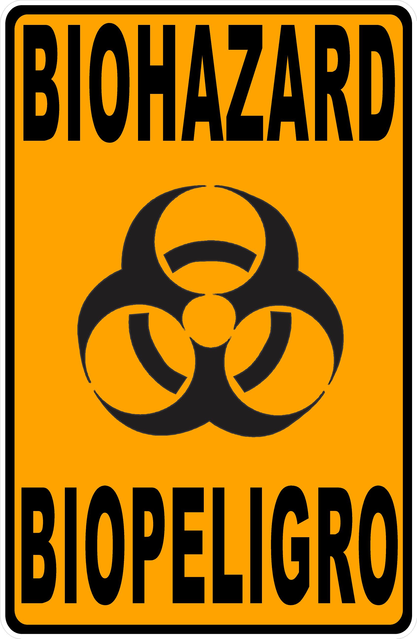 Bilingual Biohazard Sign Biopeligro Biohazard Sign Biohazard Bilingual