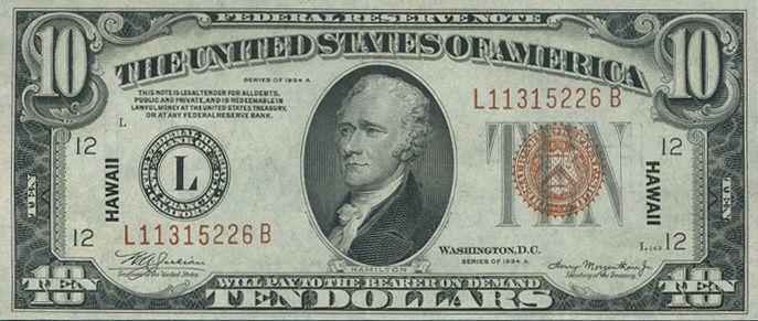 1999 10 Federal Reserve Note Ten Dollar Bill Illuminati 10 Dollar Bill Illuminati Secrets