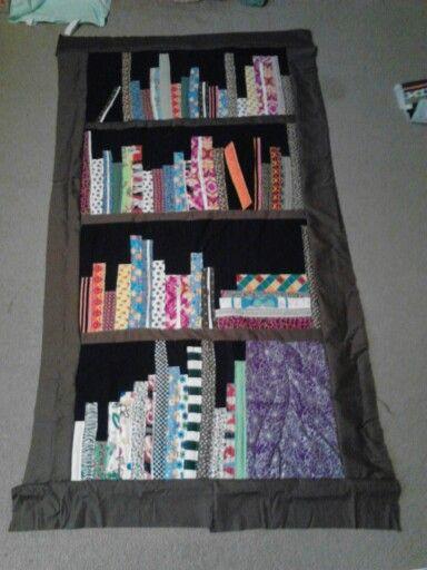 Top to bookshelf quilt. #2
