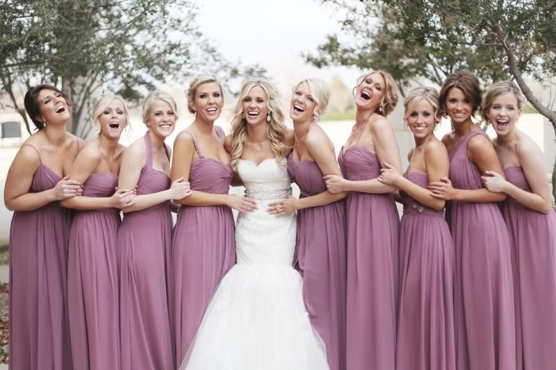 Bridesmaids Lavender Long Purple Dresses
