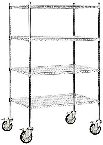 36 Inch Wide Wire Shelving | Salsbury Industries Mobile Wire Shelving Unit 36 Inch Wide By 69